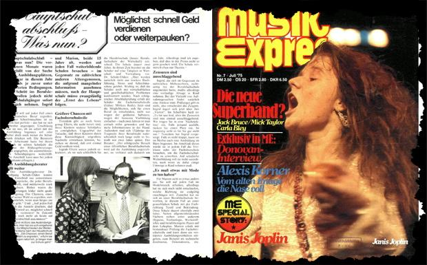 Musikexpress Juli 1975