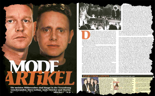 Depeche Mode Interview Ausriss 1998