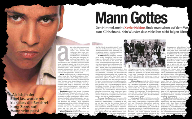 Xavier Naidoo Interview Ausriss 2001