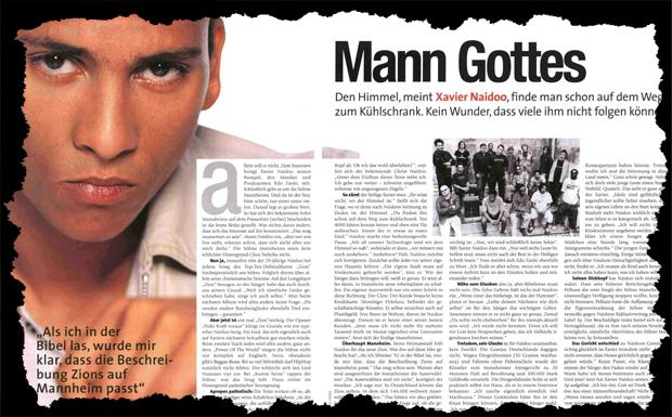 Xavier Naidoo Interview Ausriss 2001