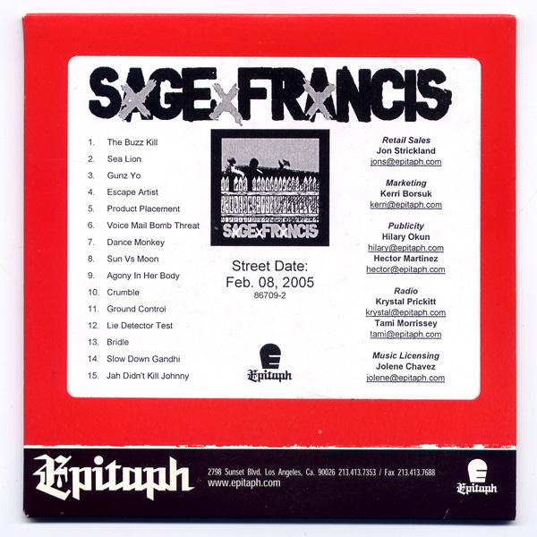 Sage Francis - A Healthy Distrust