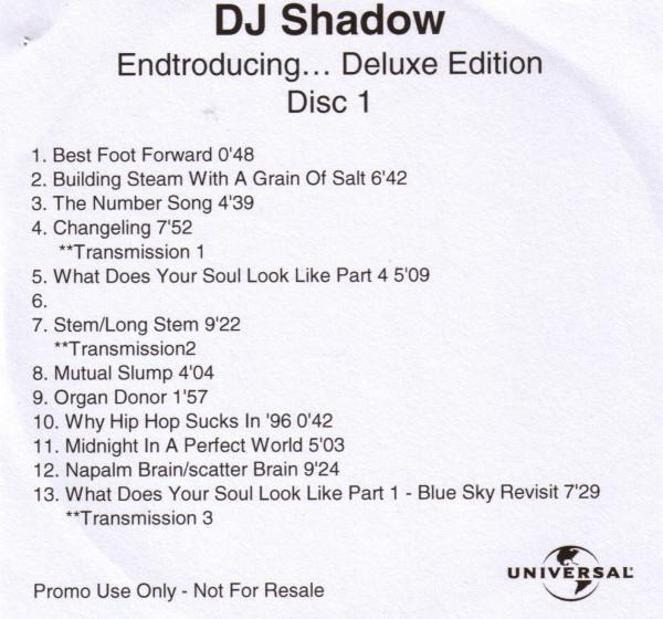 DJ Shadow - Endtroducing... Deluxe Edition