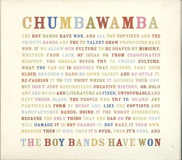 Chumbawamba - The Boy bands have won...