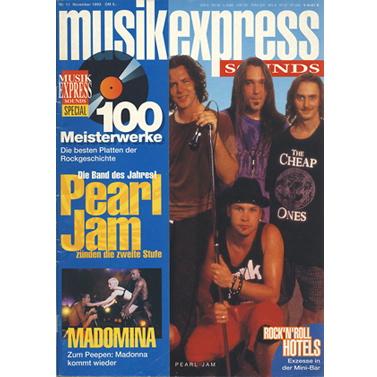 musikexpress Cover 1992 - 1993