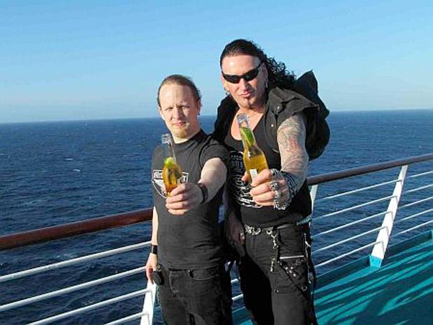 Christof Leim und Schmier von Destruction auf hoher See