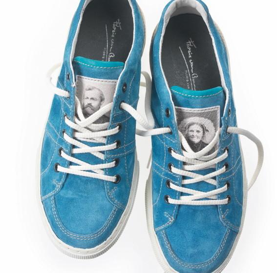 Floris van Bommel - Turquoise Sneaker