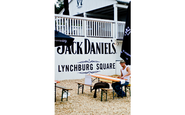 Die Ruhe vor dem 'Hurricane' am Lynchburg Square