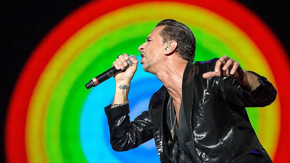 Dave Gahan von Depeche Mode bei einem Live-Auftritt im Jahr 2013