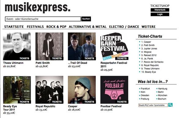 Musikexpress Ticketshop