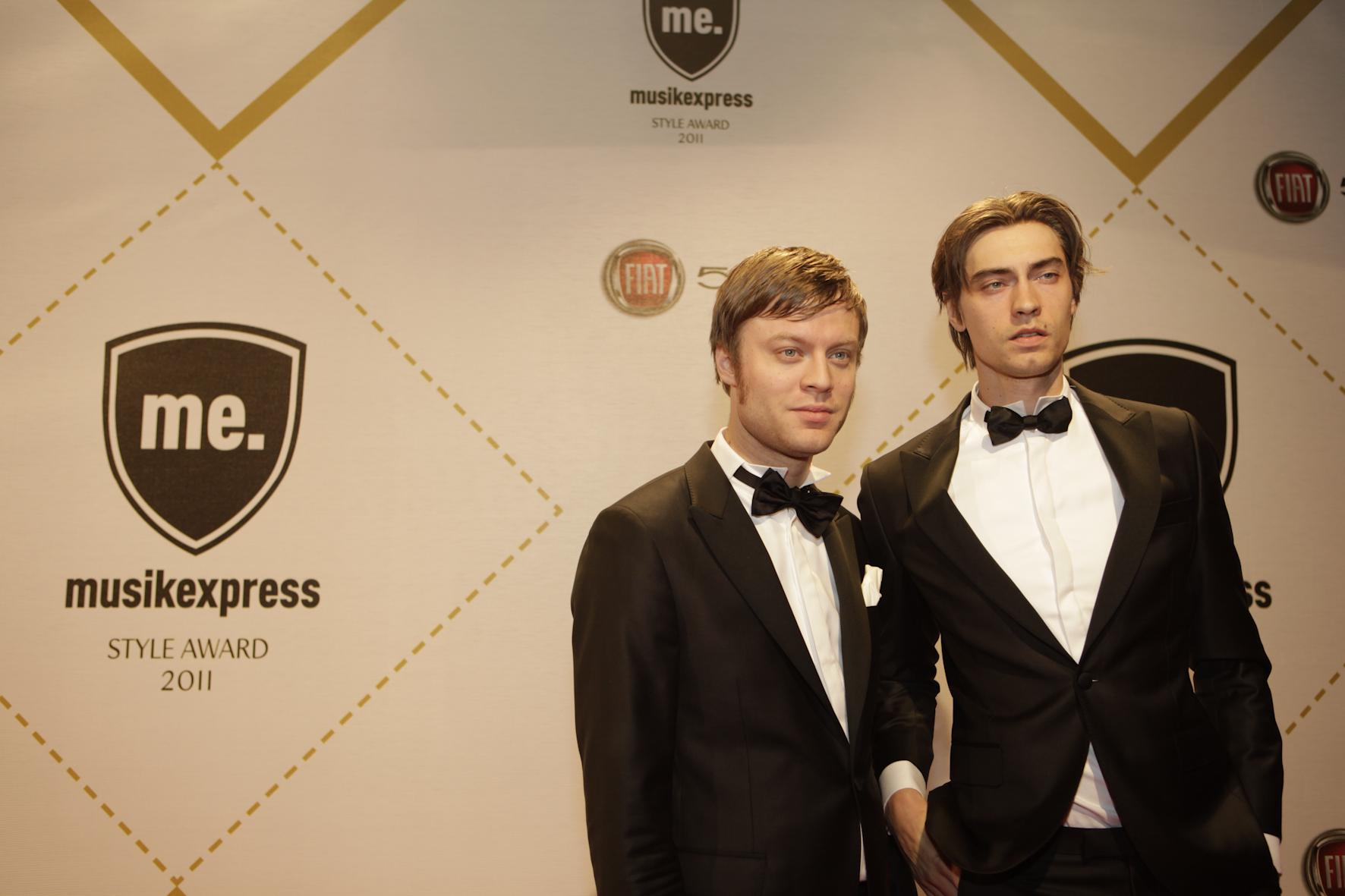 Björn Dixgård und Gustaf Norén von Mando Diao