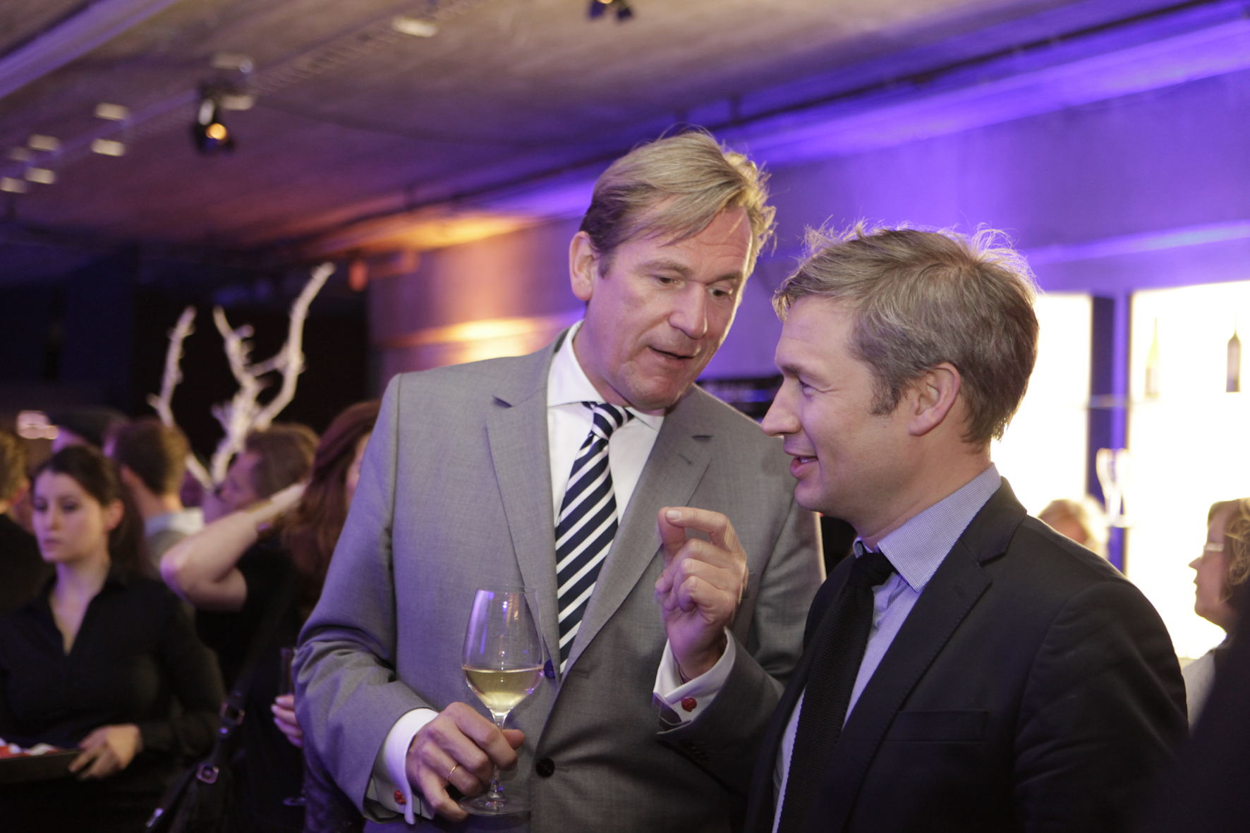 Mathias Döpfner (li.) mit Ulf Poschardt