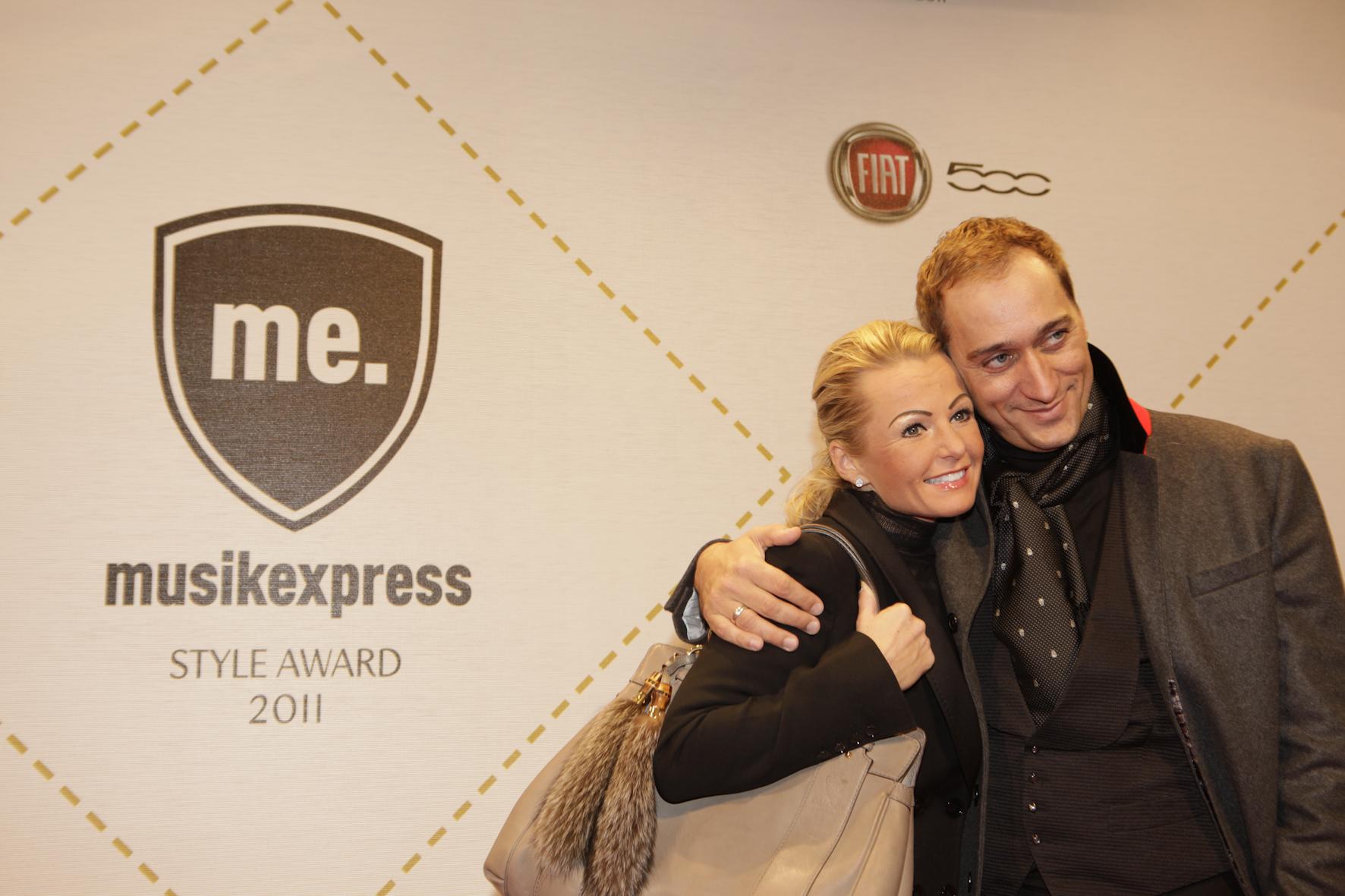 Laudator und Techno-Ikone Paul van Dyk mit seiner Frau Natascha.
