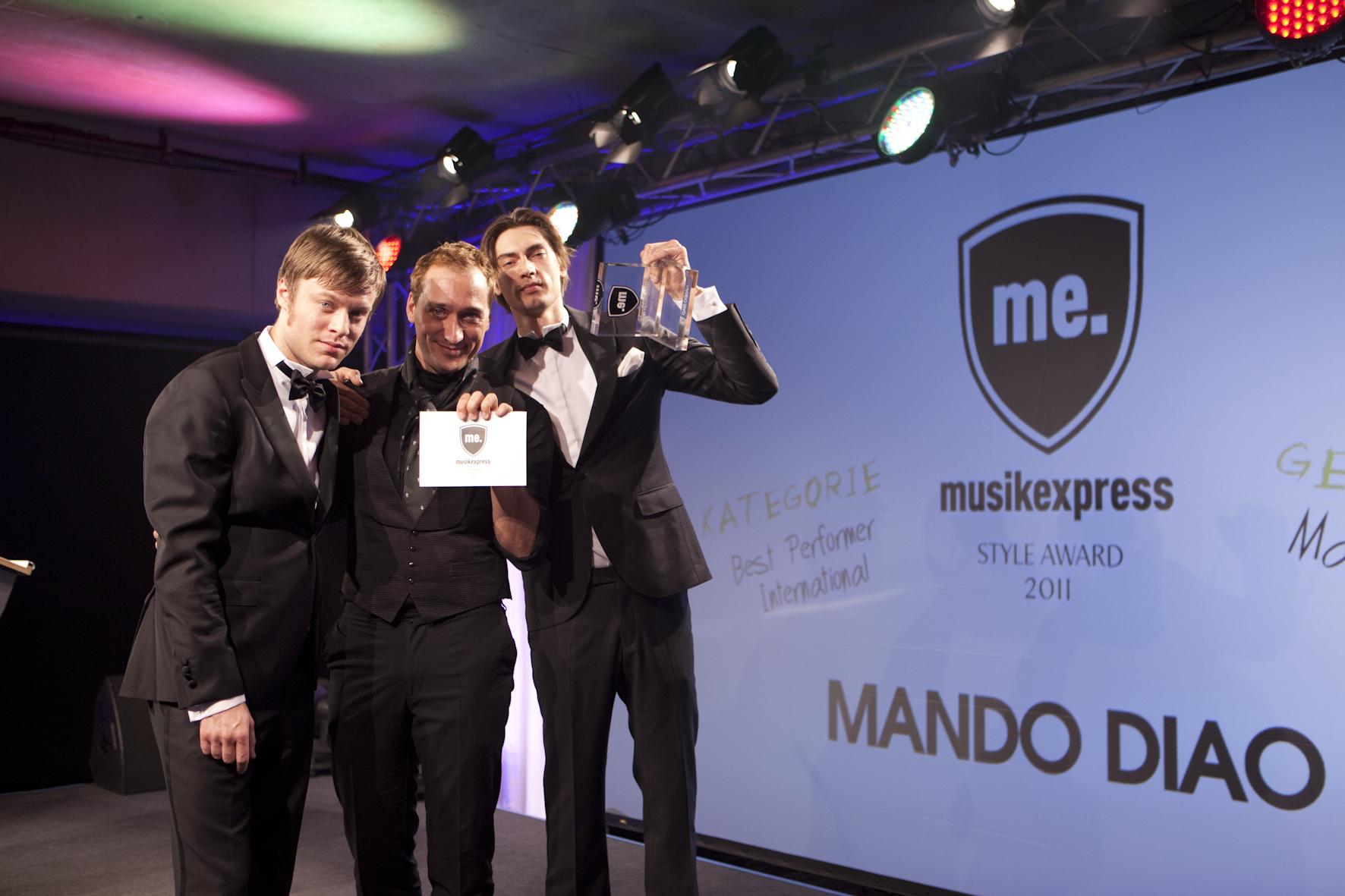 Paul van Dyk mit den Best Performern International: Mando Diao.