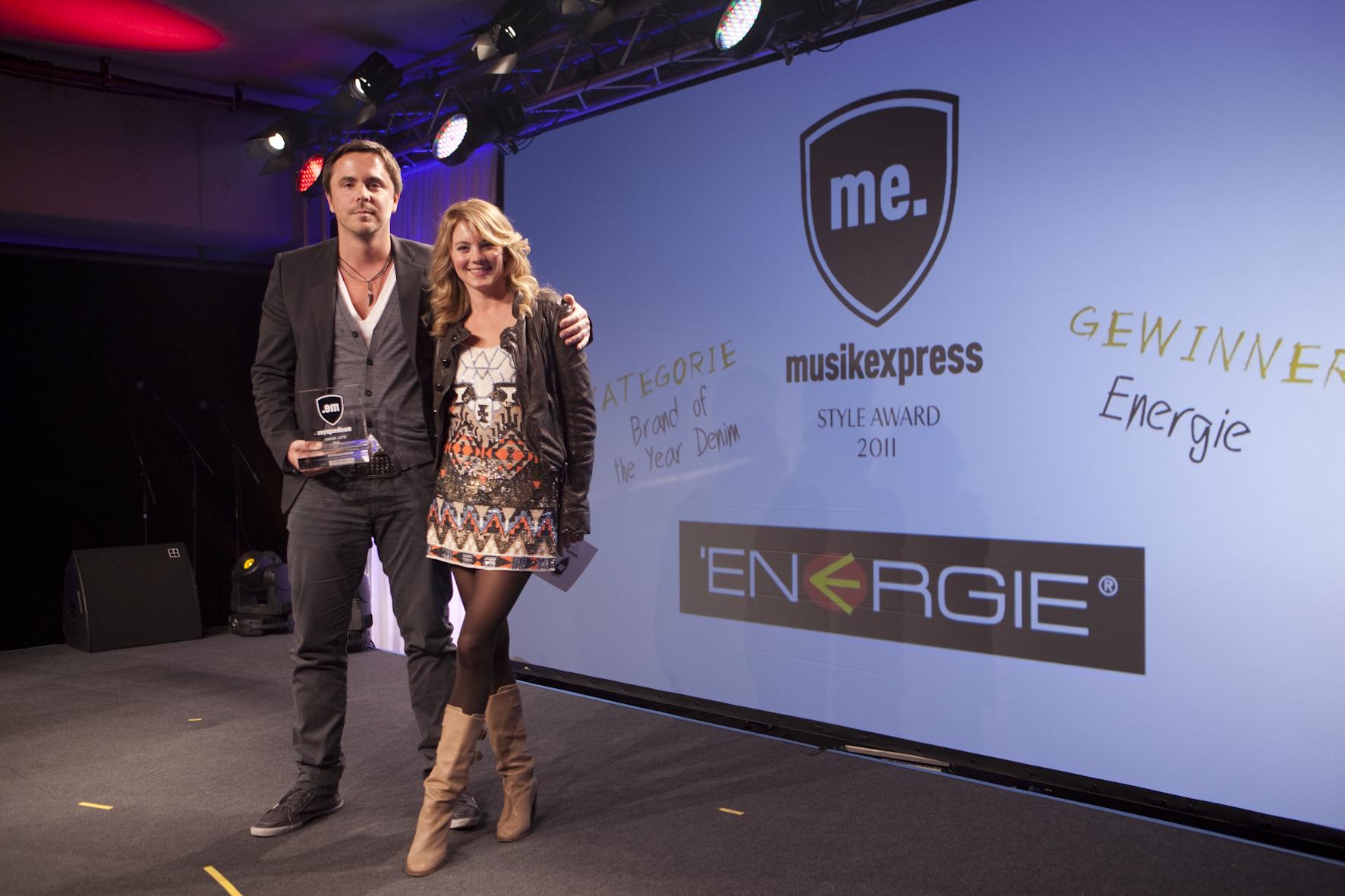 Nico Hoffmeister (Energie) mit Luise Bähr