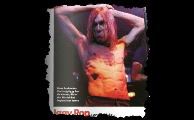 Aus unserer Dezemberausgabe 1999 (Konzertkritik, London, LA2): 'Iggy Pop aber hat es bisher geschafft, konsequent seiner Visi