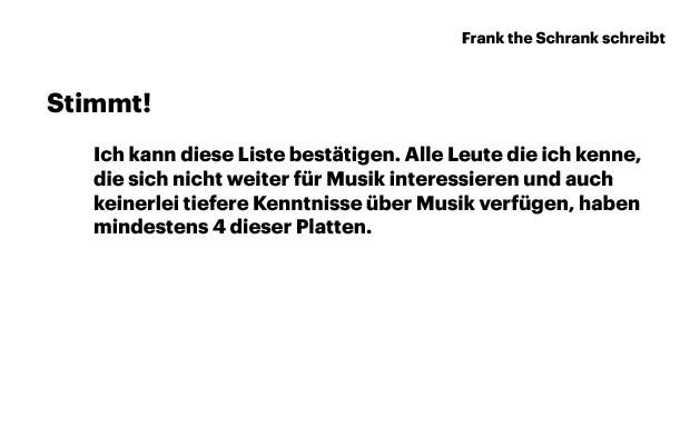 Aus dem Kommentarfeld auf musikexpress.de