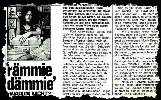 April1973: Lutz Wauligmanns Kolumne im 'Musik Express'