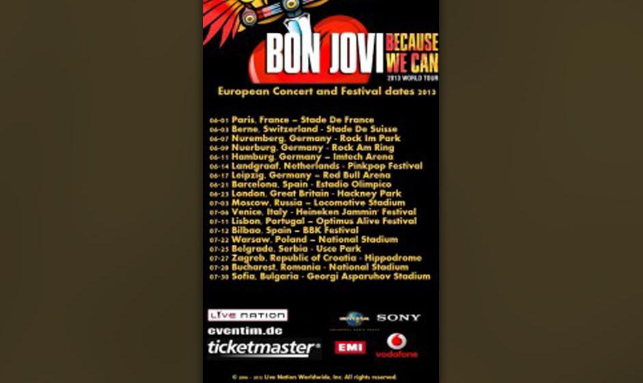 Fake Flyer Bon Jovi