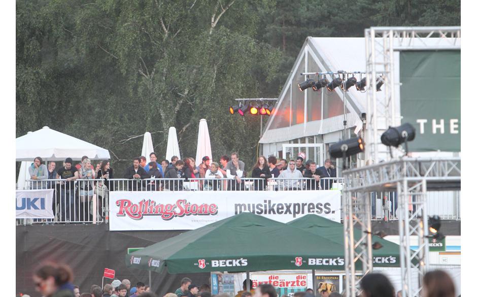 Die Rollings Stone und Musikexpress-Lounge zwischen der Green Stage und der Blue Stage.