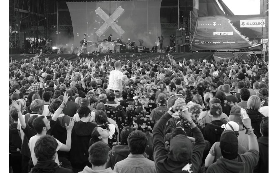 Seifenblasen zum The xx Konzert.