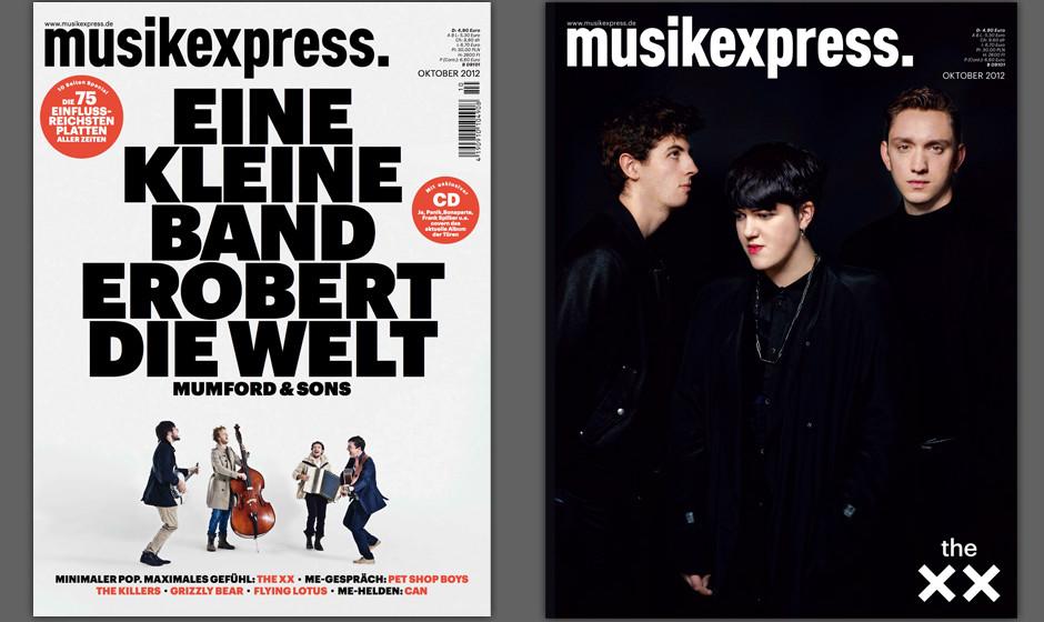 Die Heftcover des Musikexpress. Rechts: die exklusive Sammleredition für Abonnenten.