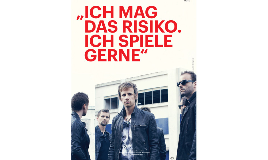 Musikexpress-Ausgabe 11/2012. Das Interview mit Muse.