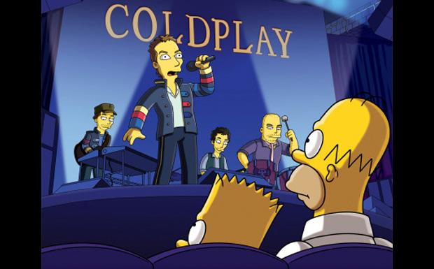 Coldplay bei den Simpsons