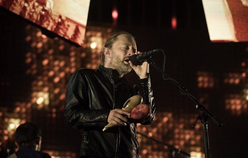 Thom Yorke beim Konzert in der Wuhlheide Berlin