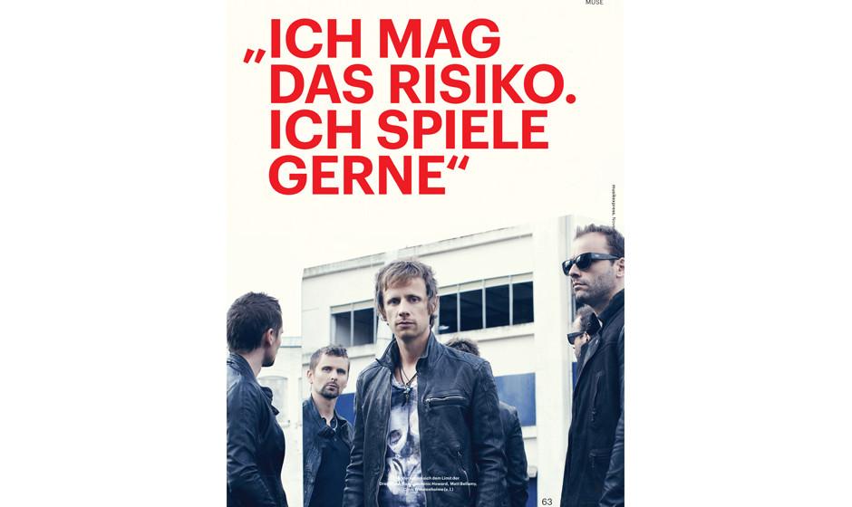 Muse im Interview. Matt Bellamy und Chris Wolstenholme über künstlerische Risiken, Dubstep und Alkohol.