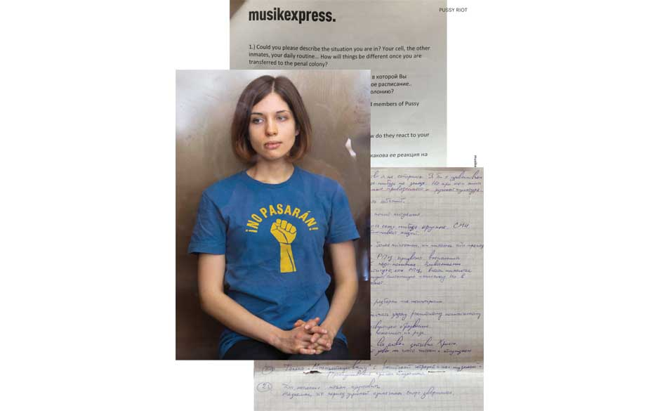 Musikexpress: November 2012. Interview mit Pussy Riot.