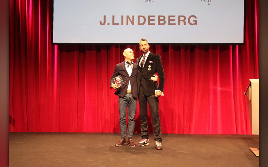 Stefan Engström von J. Lindeberg mit DJ Harris