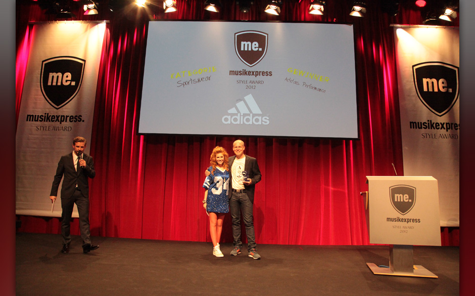 Palina Rojinski mit Martin Schindler von Adidas