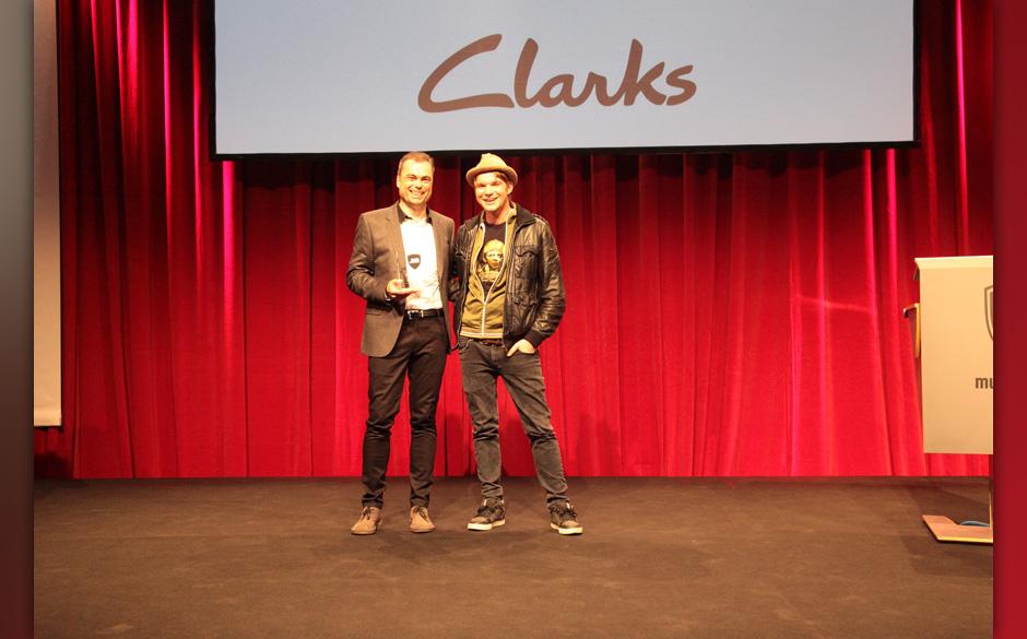… mit Rolf Huigen von Clarks