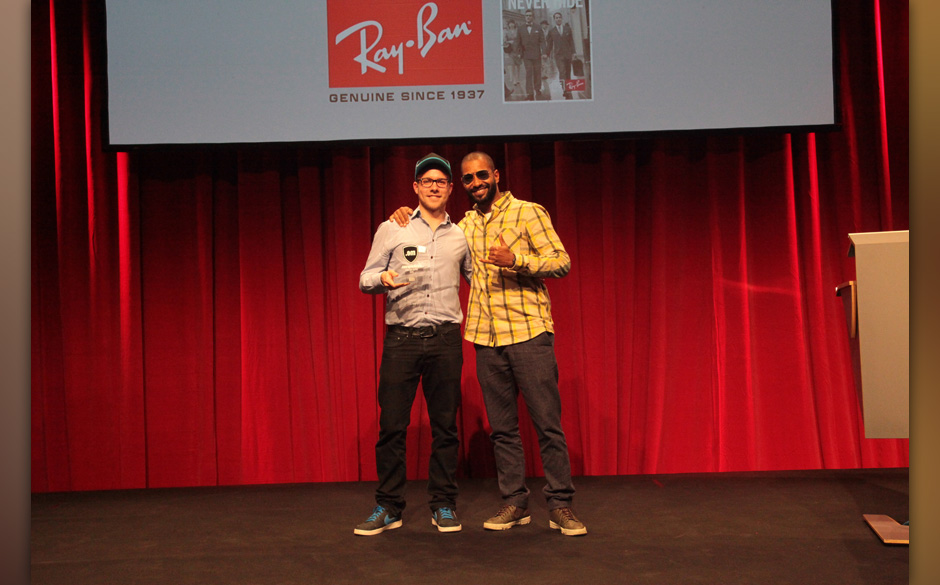 ... mit Dominik Barth von Ray-Ban.