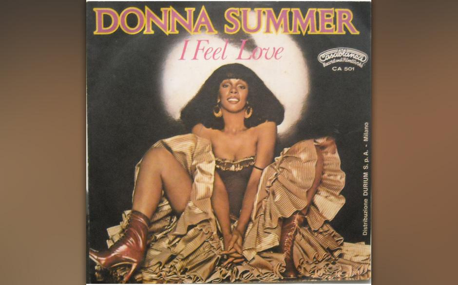 """Donna Summer – """"I Feel Love"""" (1977). Sagt Brian Eno zu David Bowie: """"Alter, ich habe die Zukunft gehört."""" Und legt"""