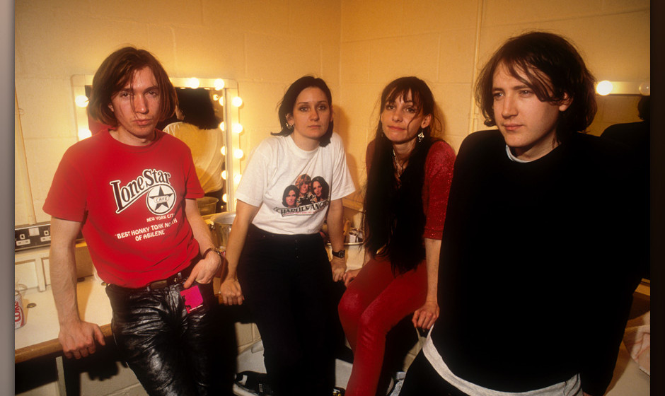 Picture By: Alastair Indge / Retna Pictures-Portrait of My Bloody Valentine backstage on the Loveless Tour. Taken in Cambri