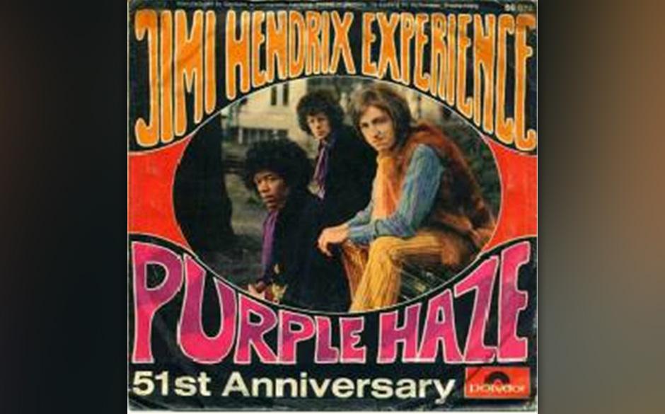 """The Jimi Hendrix Experience – """"Purple Haze"""" (1967). Vom Zeitlupen-Eröffnungsriff, über das verzerrte Gitarrensolo bis"""