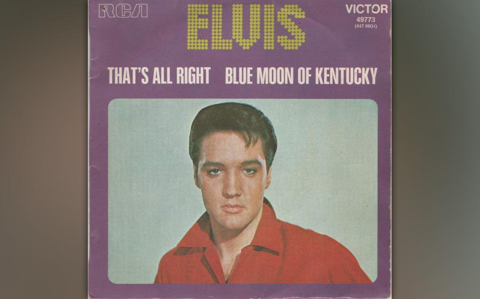 """Elvis Presley –""""That's All Right"""" (1954). Streng genommen begann Rock'n'Roll früher. Zwei Songs werden gerne als"""
