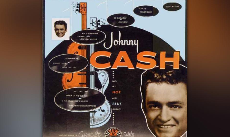 Johnny Cash – 'Johnny Cash With His Hot And Blue Guitar' (1957). Das Debüt des Patriarchen in Schwarz, aufgezeichnet in Sa