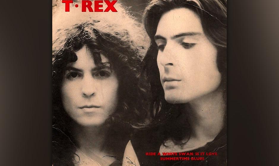 """T. Rex –""""Ride A White Swan"""" (1970). Das erste Album nach der Abkürzung des Namens hieß in England auch schlicht T.Rex"""