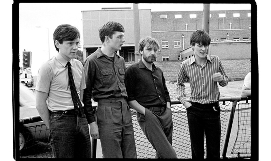 Picture By: Paul Slattery / Retna Pictures - Picture Shows: Portrait of Manchester band Joy Division photographed around Wate