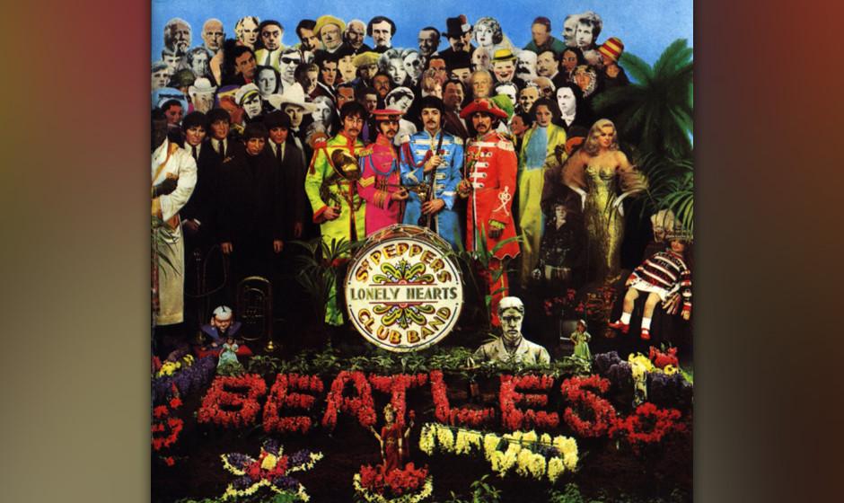 "The Beatles – 'Sgt. Pepper's Lonely Hearts Club Band' (1967). Die Band, die das Prinzip ""Band"" erst erfunden hat, treib"