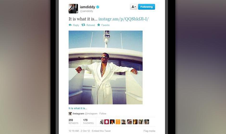 P Diddy ist für seine Bescheidenheit bekannt.