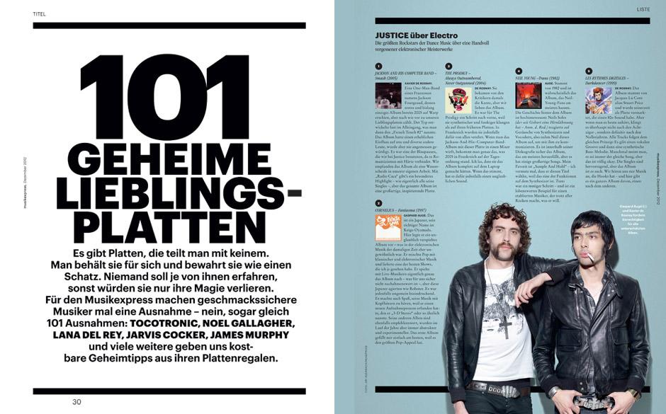 101 geheime Platten –in der Dezember-Ausgabe des Musikexpress
