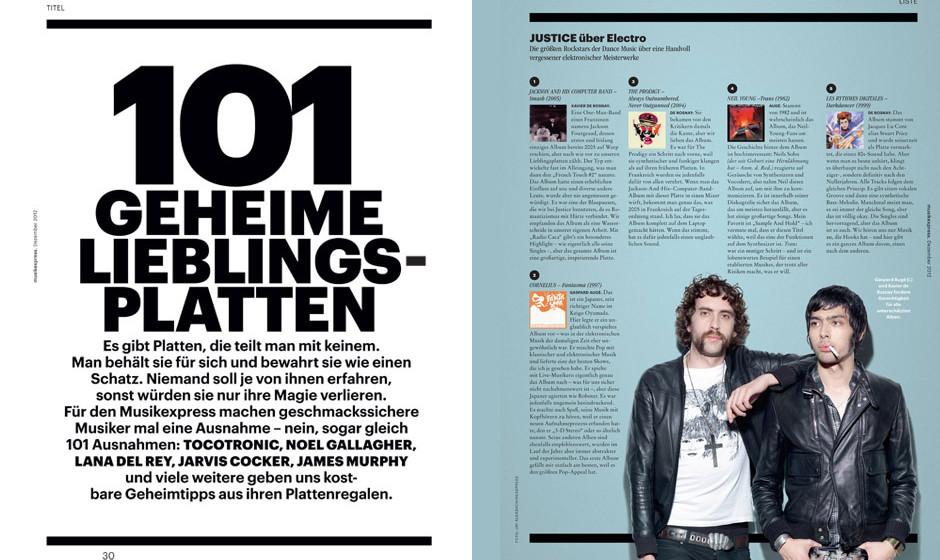 101 geheime Lieblingsplatten – aus Musikexpress 12/2012