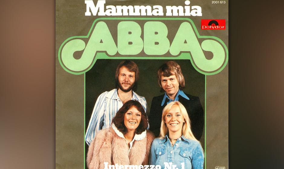 """12. 'Mamma Mia'. Löste im Januar 1976 Queens """"Bohemian Rhapsody"""" von der Nummer 1 im UK ab – ein Song, in dem auch """""""