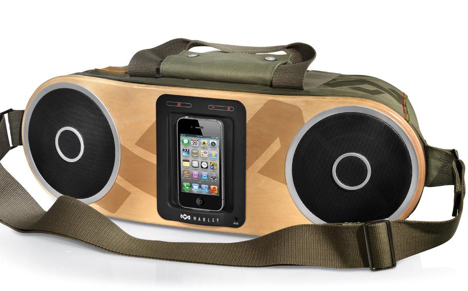 1 x Bag of Rhythm von The House of Marley. Dank iPhone-Unterstützung und 4-Zoll-Lautsprechern modernste Technik und satten S