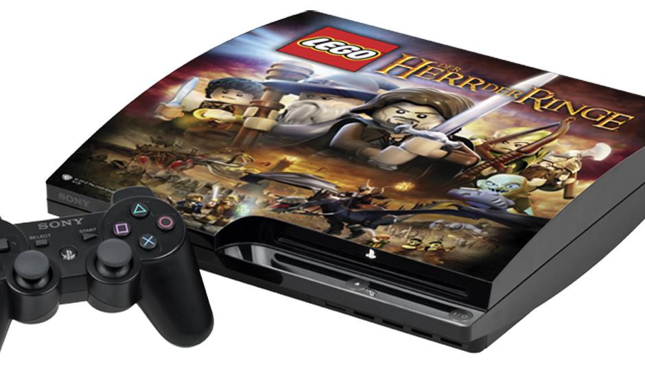 1 x Playstation 3 und Lego 'Der Herr der Ringe'. Die Playstation 3 ist extra gebrandet!