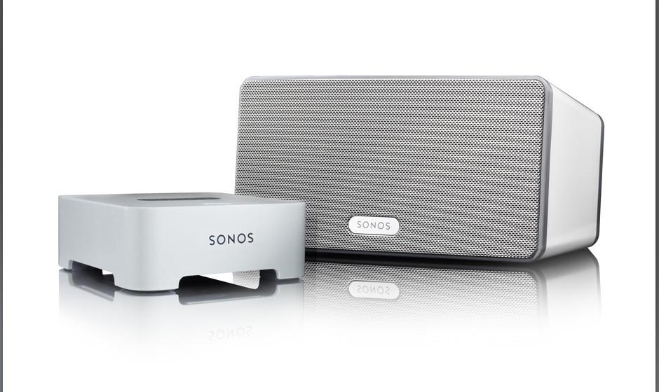 1 x Sonos Play: 3, Bridge und 6 Monate Juke. In Kombination mit einem sechsmonatigen Gratis-Abo von Juke und der Bridge kann