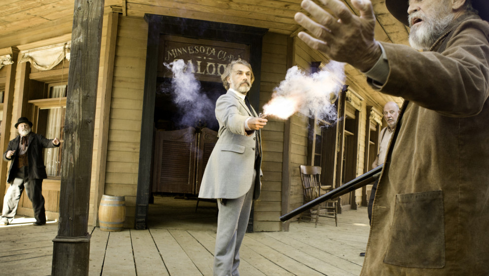 CHRISTOPH WALTZ (center) stars in DJANGO UNCHAINED